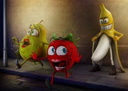 香蕉,追踪者,草莓,梨,香蕉,草莓