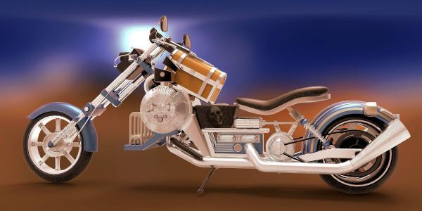 摩托车,头骨,背景