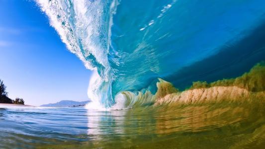 波浪,卷,冲浪