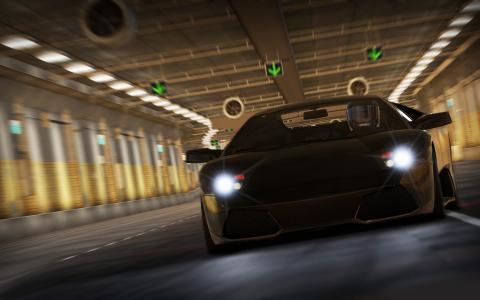 兰博基尼,隧道,游戏,跑车