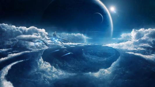 空间,行星,船舶