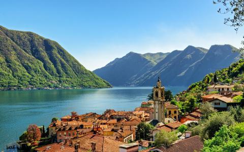 科莫湖,意大利,欧洲,山地景观,伦巴第大区