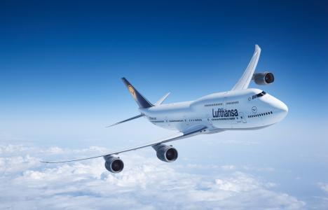 747,客机,波音,汉莎,飞机,苍蝇,波音,飞行