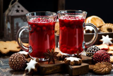 饮料,新年,饼干,马克杯