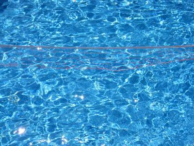 蓝色,游泳池,水
