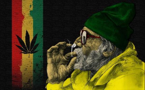 吸烟,大麻,祖父,kajf