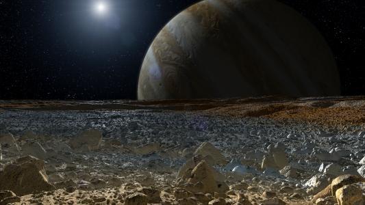 行星,木星,卫星,表面,石头