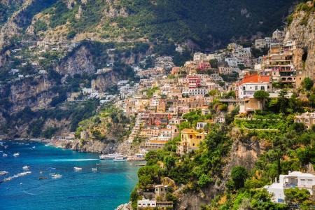 海,山,意大利