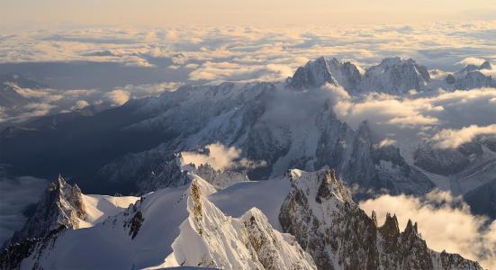 自然,山,云,美丽,照片,地平线
