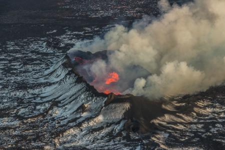 火山,性质,景观,Holuhraun,冰岛,喷发