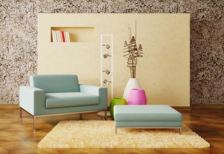 花瓶,装饰,扶手椅,室内设计,地毯,墙上,室内,设计