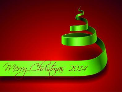 新的一年,枞树,背景,红色,祝贺