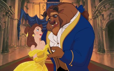 迪士尼,美女与怪物,美女与野兽,童话,美女,王子