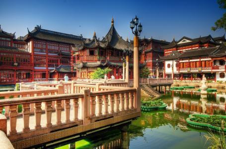 中国,上海,茶宫