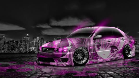 东尼,丰田,Altezza,JDM,优化,动漫,气象学,汽车,城市,夜,粉红色,霓虹灯,颜色,女孩,日本,设计,艺术,风格,埃尼托尼汽车,Photoshop,高清壁纸,托尼Koha