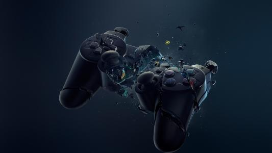 游戏手柄,爆炸,PlayStation 3,dualshock