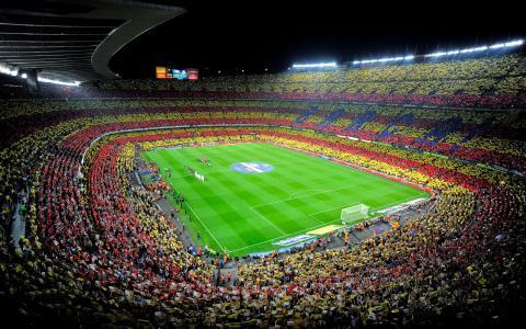 诺坎普,西班牙,诺坎普,巴塞罗那,巴塞罗那,体育场,人,足球