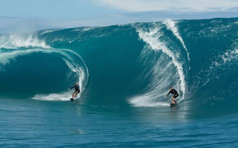 波,冲浪,海洋,水,海