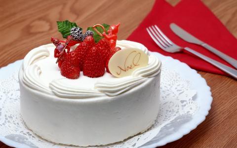 蛋糕,草莓