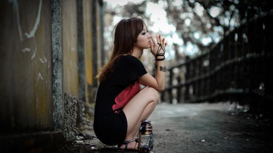 女孩,日本人,路,图,脸,看,悲伤,情绪,美女