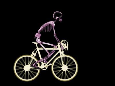骨架,精益自行车,自行车,X射线,黑色从