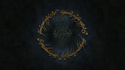 标志,黄金,托尔金,辛达林,指环王