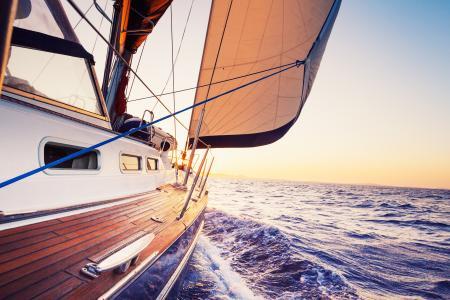 游艇,帆船,海,嗡嗡声
