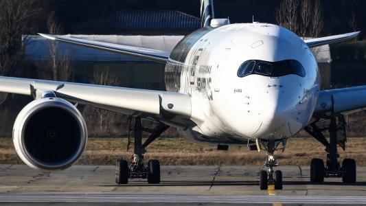 空客A350,空中客车工业,飞机,机场,机场,飞机