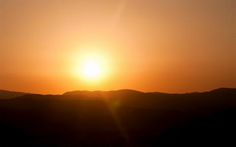 光,太阳,地平线