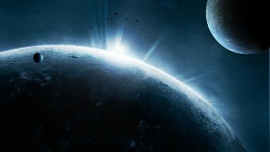 文明,行星,气氛,灯光,表面