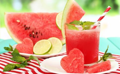 西瓜,心,宏观照片,美味,浆果,鸡尾酒
