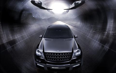 奔驰奔驰ml63,SUV,双涡轮增压,黑色
