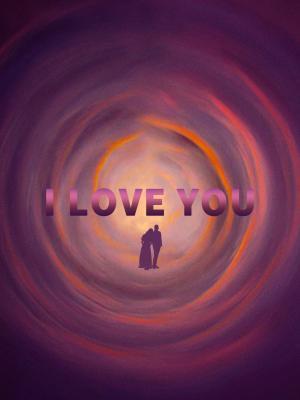 爱情旋涡创意手绘