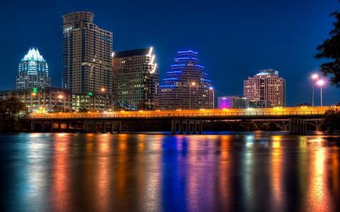 城市,夜晚,灯光