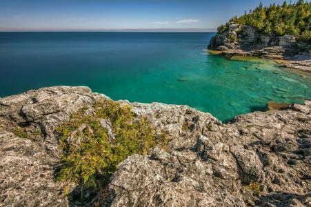 海洋,天空,岩石,夏天,海岸,美女