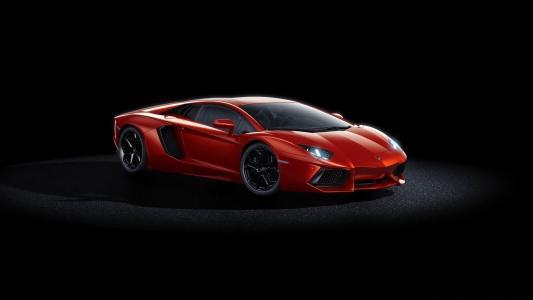 跑车,红色,法拉利,黑色的背景