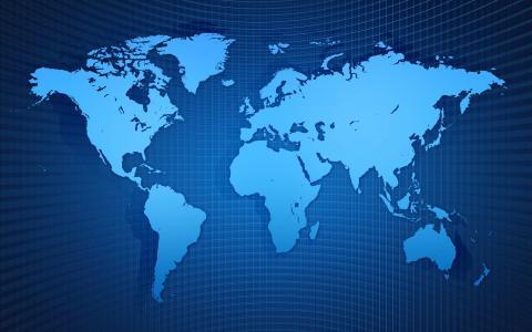 地图,世界,图,地理,蓝色背景