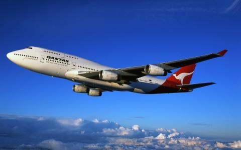 航空公司,航空公司,波音747,澳大利亚,澳洲航空,波音,班轮,澳大利亚
