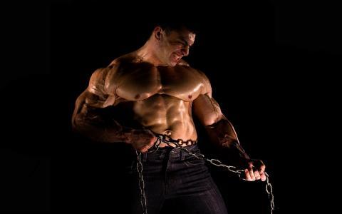 力量,肌肉,链条