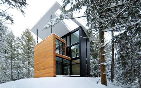房子和舒适,冬天,森林