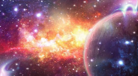空间,抽象,星星,星云,行星,艺术