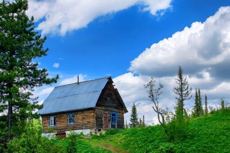 房子,Luzhba,Kuzbass,性质,小屋