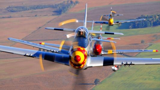 飞行,P-51野马,组