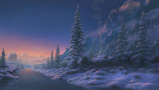 艺术,图片,冬天