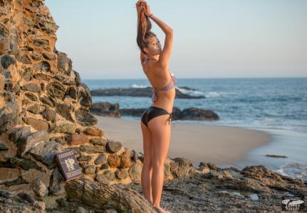 冲浪,女孩,性感,色情,nicon,海滩,太阳,岩石,比基尼