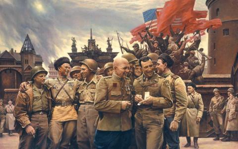 艺术,绘画,胜利,五月,美国,苏维埃,士兵