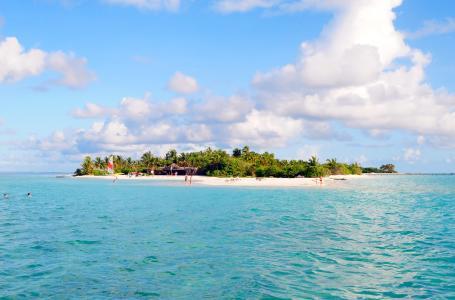 热带,海,岛,海滩,夏天