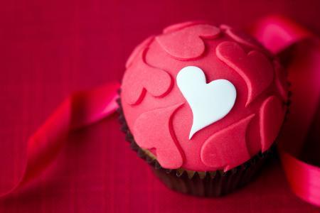 蛋糕,甜点,糖霜,心,糕点,蛋糕