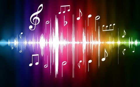 音乐,音乐,笔记,抽象,颜色