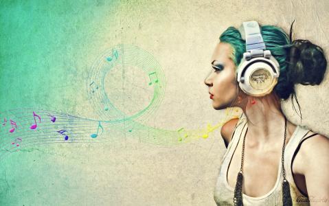 音乐,音乐,耳机